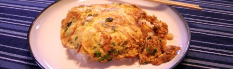 Chinese omelet over rice