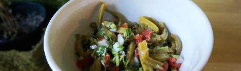 Spicy cactus salad