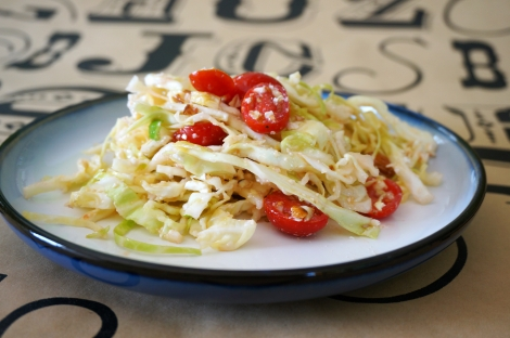 Sizzling cabbage salad